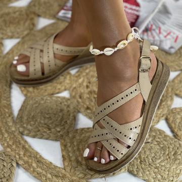 Sandale cu Platforma Anita Bej