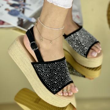 Sandale cu platforma Donetta Negre