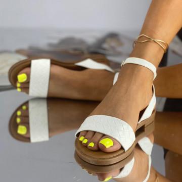 Sandale Fara Toc Calera Albe