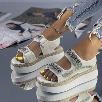 Sandale Supira Albe