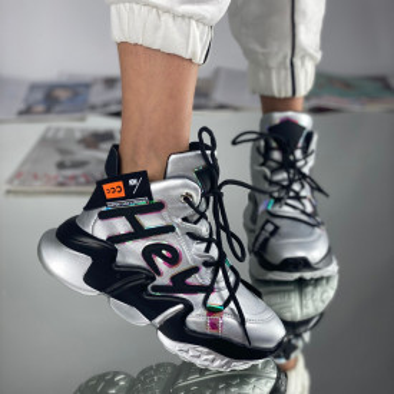 Sneakersi Dama Hey Argintii