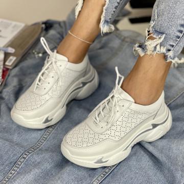 Pantofi Casual Mekona Albi
