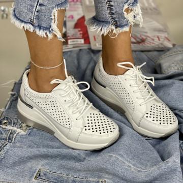 Pantofi Casual Somei Albi