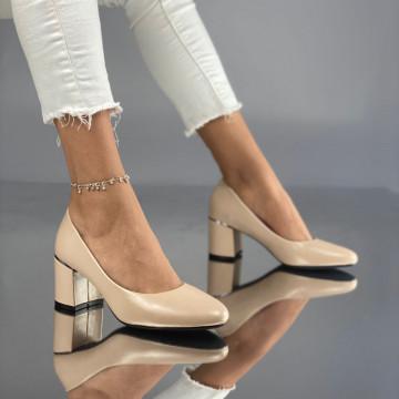 Pantofi cu Toc Soria Bej
