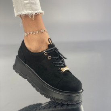 Pantofi Dama Casual Denisa Negri Suet