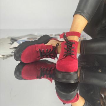 Pantofi Dama Casual Dolma Pinta Rosii