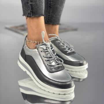 Pantofi Dama Casual Pirota Argintii