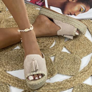 Papuci cu Platforma Alia Nude
