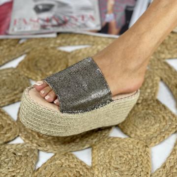 Papuci cu Platforma Sokra Negri