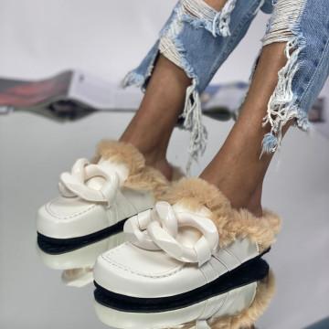 Papuci Parida Albi