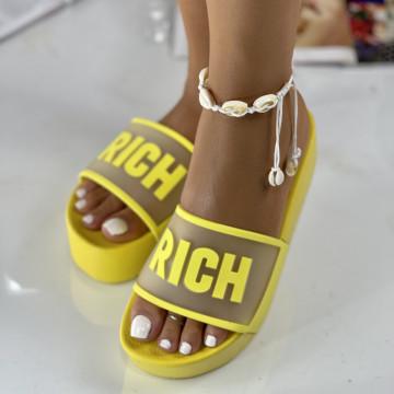 Papuci Rich Galbeni