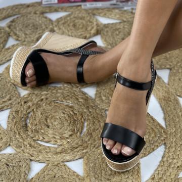Sandale cu Platforma Andra Negre