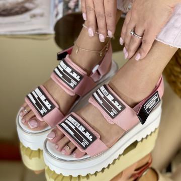 Sandale cu platforma Angina Roz