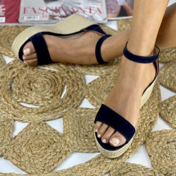 Sandale cu platforma Aylin Bleumarin