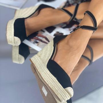 Sandale cu Platforma Leona Negre