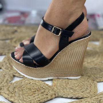 Sandale cu Platforma Moria Negre