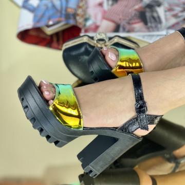 Sandale Cu Toc Comenda Negre