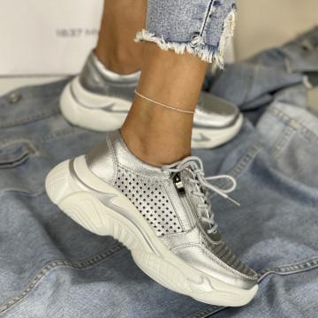 Pantofi Casual Belancia Argintii