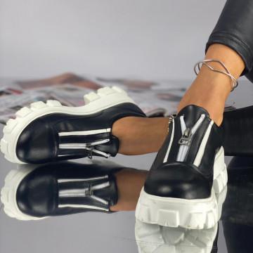 Pantofi Dama Casual Anana Negri Albi