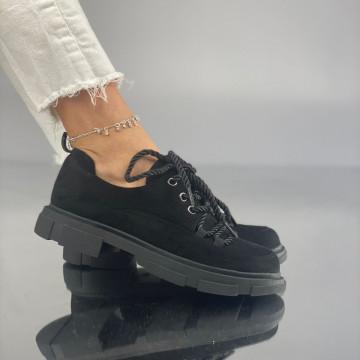 Pantofi Dama Casual Crevis Suet