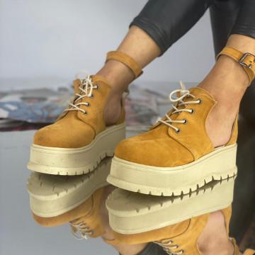 Pantofi Dama Casual Dolma Pinta Galbeni
