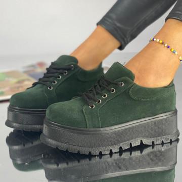 Pantofi Dama Casual Hakina Verzi