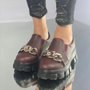 Pantofi Dama Casual Mulira Grena