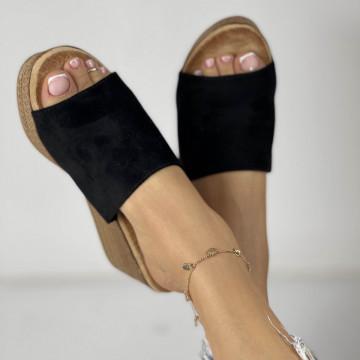 Papuci cu Platforma Meda Negri