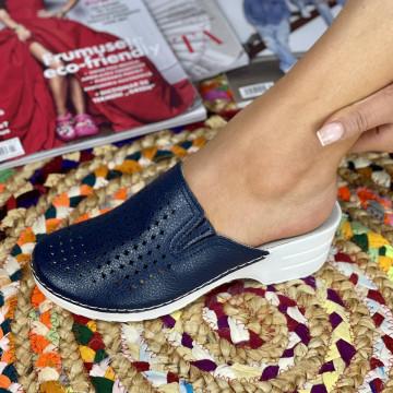 Papuci Dama Codrina Bleumarin