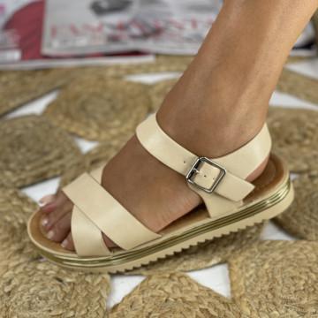Sandale cu Platforma Hamora bej