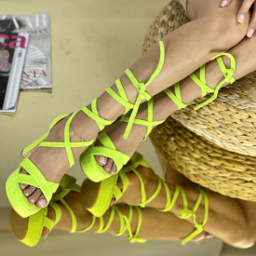 Sandale Cu Toc Clavenda Verde