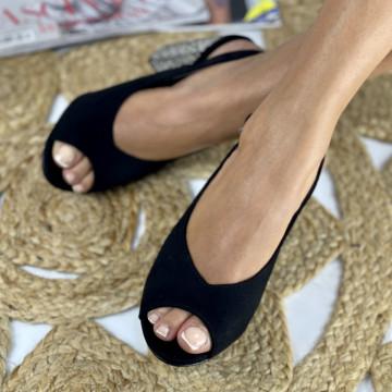 Sandale cu Toc Lamera Negre