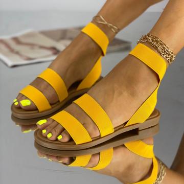 Sandale Fara Toc Korea Galbene