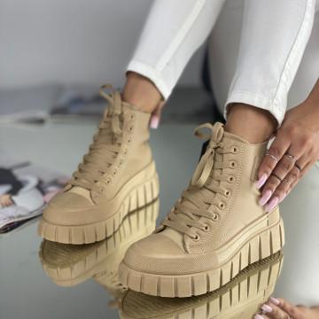 Sneakersi Dama Alicia Khaki
