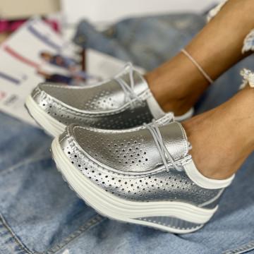 Pantofi Casual Anisia Argintii