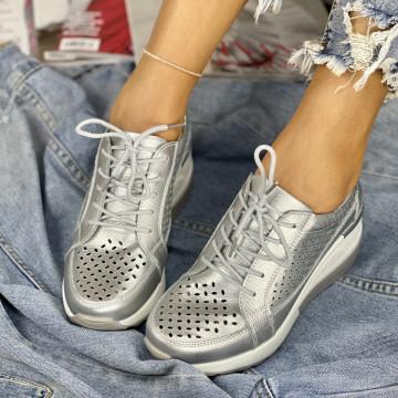 Pantofi Casual somei Argintii