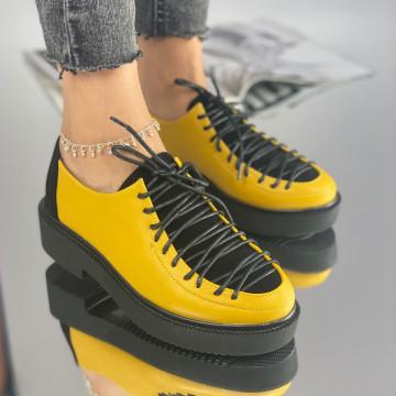 Pantofi Dama Casual Caelia Galbeni