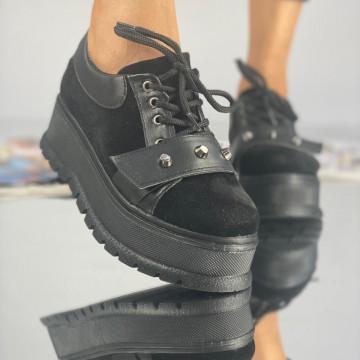 Pantofi Dama Casual Coreca Negri