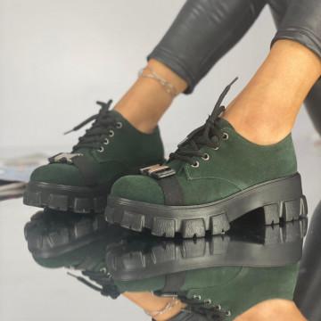 Pantofi Dama Casual Crix Verzi