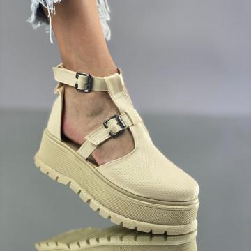 Pantofi Dama Casual Puris Bej
