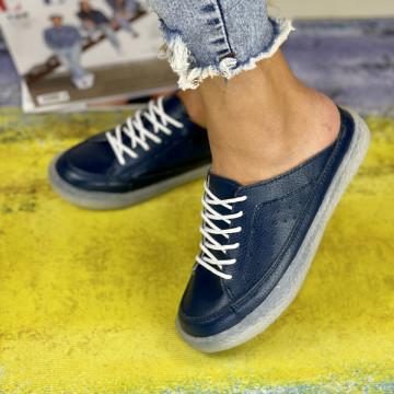 Papuci Casual Liza Bleumarin