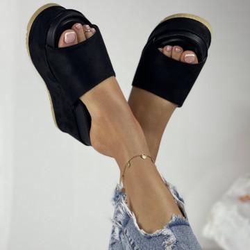 Papuci Crinita Negri