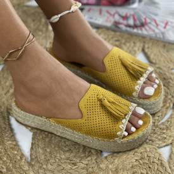 Papuci cu Platforma Alia Galbeni