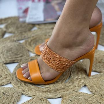 Papuci cu Toc Simera Oranj