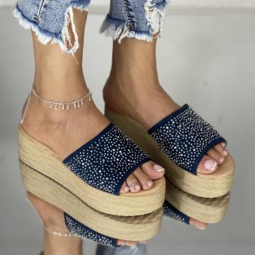 Papuci Kalito Bleumarin