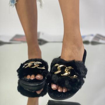 Papuci Sheila Negre