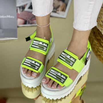 Sandale cu platforma Angina Verzi