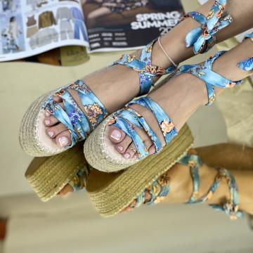Sandale Cu platforma Antones Albastre