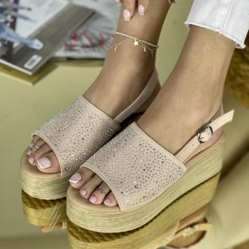 Sandale cu platforma Donetta Roz