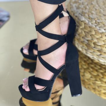 Sandale Cu Toc Melara Negre